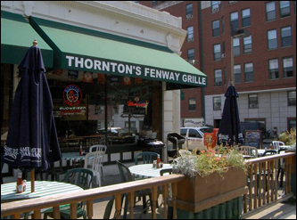 Timlin is a frequent visitor to Thornton's Fenway Grille. He says he has had just about everything on the menu.