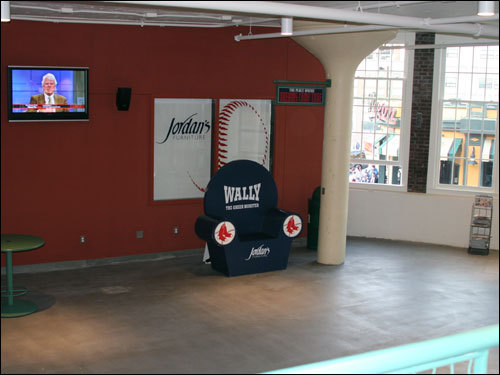 The new left field concourse offers plenty of room to spead out, high-definition televisions, and a view of the action on the corner of Lansdowne St. and Brookline Avenue.