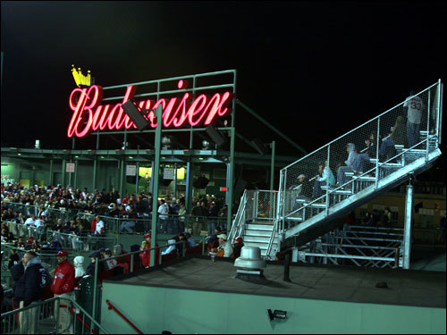 The right field roof deck and 'Conigliaro's Corner' crowd was mostly silent on a night when the Red Sox offense could only muster up one hit.