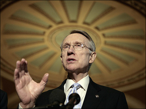 Democrats, however, countered Bush's claims by saying the war was going poorly and it demanded a new policy. 'If the president wonders why the American people have lost patience, it is because the news out of Iraq grows worse by the day,' Senate Majority Leader Harry Reid said, adding 'We ask that he take some time to reflect on that somber fact.'