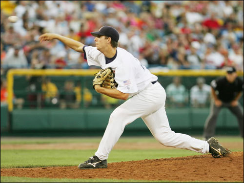 Cox isn't off to a great start to the 2007 season in Portland. He has a 4.91 ERA with 11 walks and just three strikeouts in 14 2/3 innings. The seventh-ranked prospect in the Sox system (according to Baseball America), Cox had a great 2006 season at the Single-A level after being taken by the Sox in the June draft.