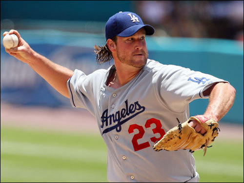 Lowe signed a four-year, $36 million contract to play for the Dodgers in January 2005. He currently has a decent record with a sub-3.50 ERA and was the Dodgers' Opening Day starter. Last season, Lowe went 16-8 for LA with a 3.63 ERA over 218 innings.