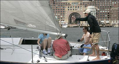 Sailing instructor Dave Carlson