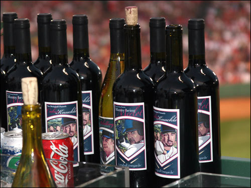Three members of the Red Sox, Manny Ramirez, Curt Schilling and Tim Wakefield, launched their own wine label with proceeds benefiting their charity of choice. The wines are distributed across New England stores, restaurants and Fenway Park beginning Friday.
