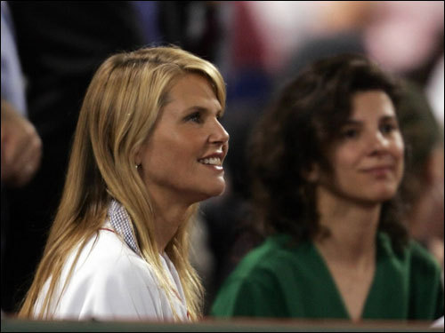 Former supermodel Christie Brinkley attended the game.