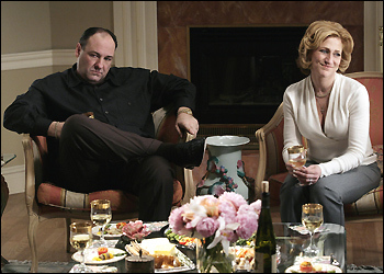 A scene from the series finale of 'Sopranos'