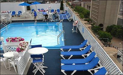 Colonnade Hotel's rooftop pool