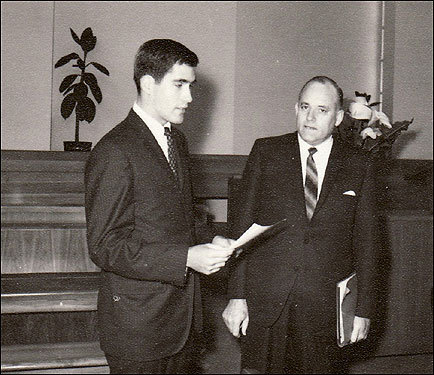 The missionaries would occasionally get a chance to meet prominent church leaders, who would visit to give a motivational talk. While Romney was in Bordeaux, he met Howard W. Hunter, who held the high rank of apostle in the Mormon church. Hunter later became president of the church.