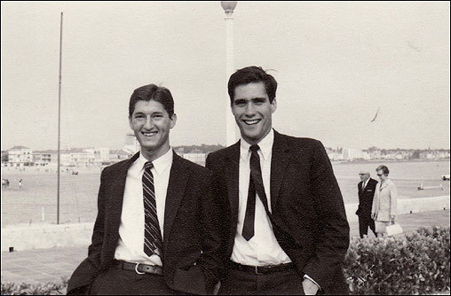 In May 1968, France was paralyzed by a general strike sparked by student protests. The missionaries faced a number of challenges -- no mail, no gasoline -- but chief among them was difficulty cashing checks sent from their parents, because banks were closed. Romney led a group of missionaries into Spain to find an open bank.