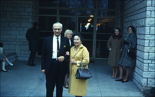 In Paris, Romney served as assistant to the president, the highest office for a missionary. Romney worked for the mission president, H. Duane Anderson, shown here with his wife, Leola.