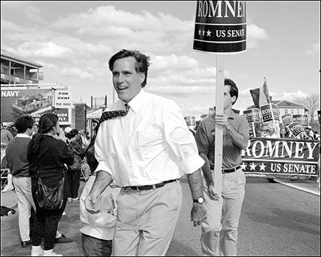 And when Mitt made his first move into politics, running against Senator Edward M. Kennedy in 1994, George and Lenore relocated to Boston to campaign for their son and provide counsel.