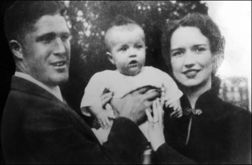 George and Lenore Romney with their son Scott (Mitt's older brother).