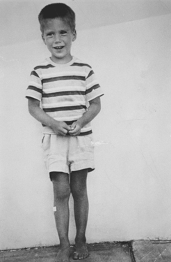 Mitt Romney, 5, in Grand Bend, Ontario.