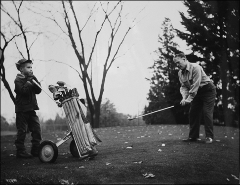 Mitt Romney caddied for his father, George.