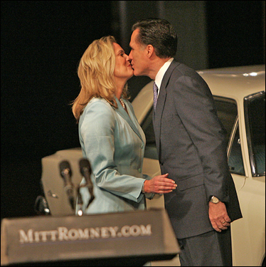 Mitt Romney, with his wife Ann by his side, announced his bid for the US presidency at the Henry Ford Museum in Dearborn, Mich.