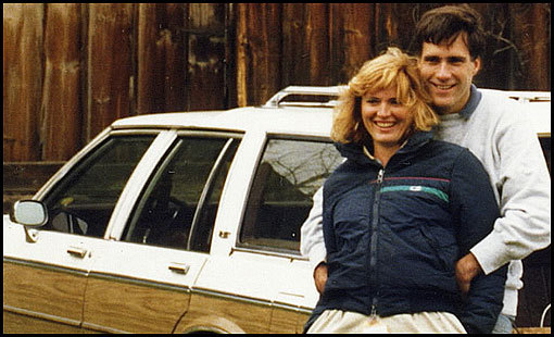 Ann and Mitt Romney with a station wagon they called the ''white whale.''