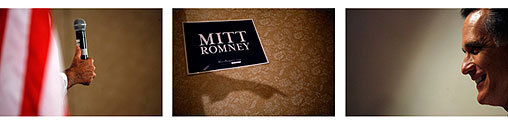 Romney spoke to local voters on June 16 in Cedar Rapids, Iowa.