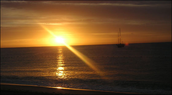 A sunrise in Cabo San Lucas, Mexico in January of 2007.