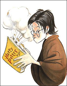 Steve Brodner illustration of Harry Potter