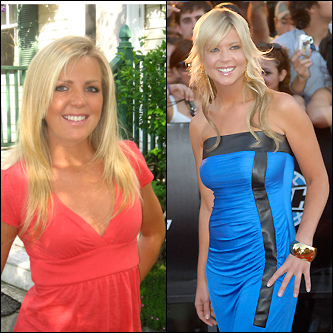 Kelly Prior (left) and actress Tara Reid (right)