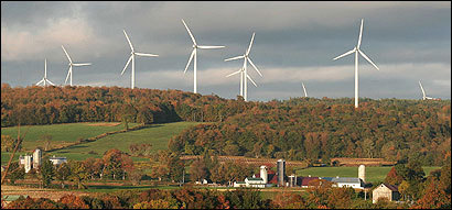 The 195-turbine Maple Ridge wind project near Fort Drum in upstate New York would furnish electricity in the NStar plan.