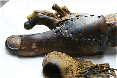 British researchers question if this false toe worn by an Egyptian woman more than 2,600 years ago had more than merely a cosmetic purpose. Evidence suggests it was a prosthesis, which would make it the world's oldest.