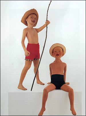 Morton Bartlett made 15 dolls: three of a boy about 8