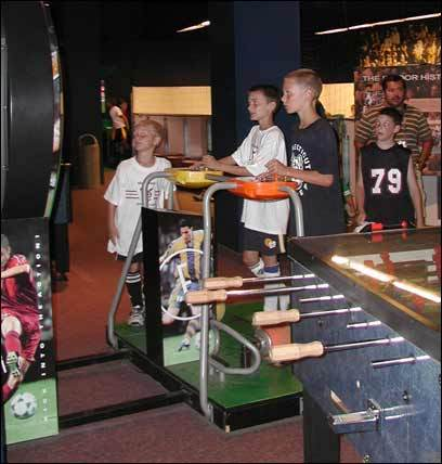Interactive displays and games test museumgoers' skills.