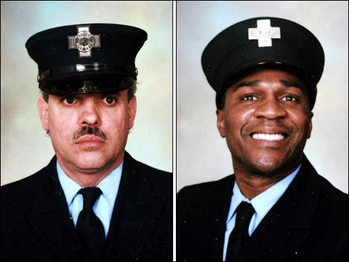The Mass for Cahill (left) was celebrated at 11 a.m. Thursday in Holy Name Church in West Roxbury, where there was also a public viewing Wednesday. A funeral for Payne (right) will be held at 11 a.m. Friday in the United House of Prayer for All People in Dorchester, following a two-hour viewing at the church.