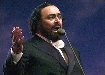 Opera star Luciano Pavarotti