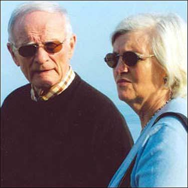 Photo of a man resembling Whitey Bulger and a woman