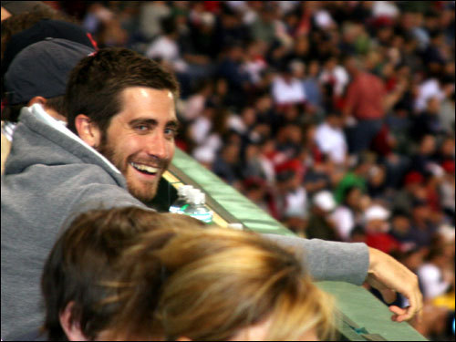 Actor Jake Gyllenhaal was among a couple of A-list celebrities taking in the game in the Monster seats on Friday along with ...