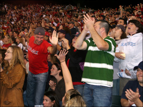 Gordon Edes put it best in Saturday's Globe when he wrote 'For the better part of four hours, it was a raucous house party.' Unfortunately for the Fenway faithful, things took a horrible turn for worse in the eighth inning.