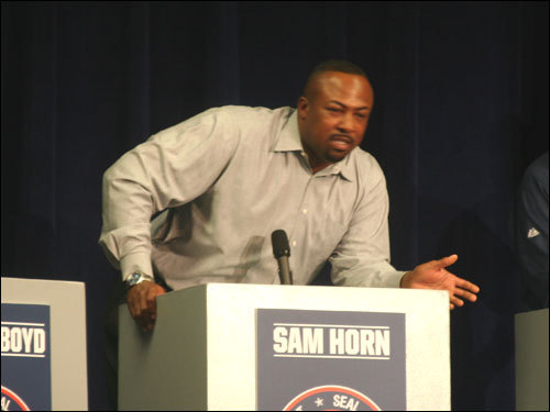 Sam Horn pledged to 'take the game to the 'hood' and thought his experience in dealing with players and media gave him an advantage over an ordinary fan.