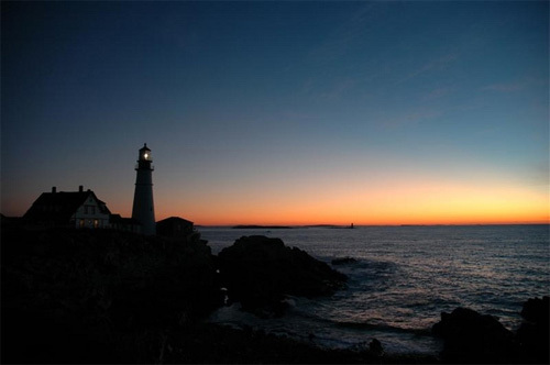 Portland Head Light just before dawn.