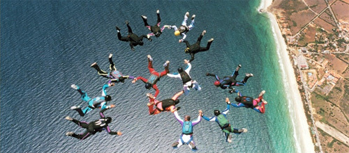 Skydiving in California.