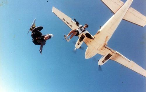 Skydiving in California.