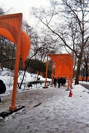 Christo's Gates in Central Park.