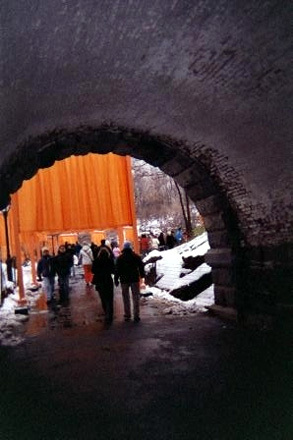 Christo's Gates in Central Park.