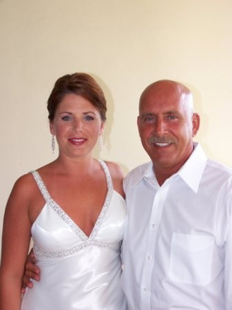 My Dad and I before the wedding