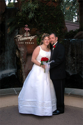 Our wedding in Las Vegas.