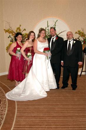 Our wedding in Las Vegas.