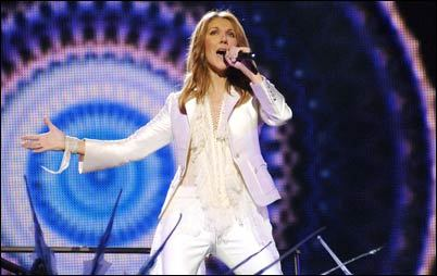 Celine Dion performs 'A New Day.'