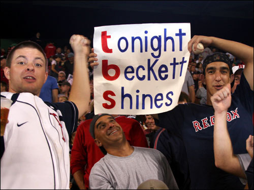 And shine Beckett did for the bleacher creatures and viewers of TBS, the cable network that paid $70 million for the exclusive rights to all the divisional playoff series, plus one League Championship Series annually for the next seven years.