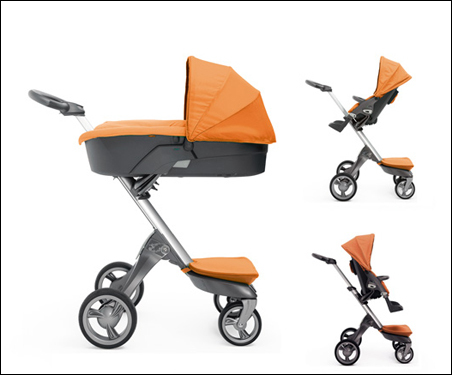This stroller lifts the child right up, 'which means he can see everything that is going on around them,' and comes in five different color combinations.