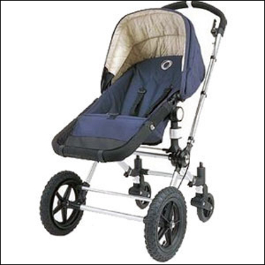 Introduced in 1999, it was the first Bugaboo to hit the market. The Frog is available in black, navy, blue, red, gray, aubergine, sand, and orange.