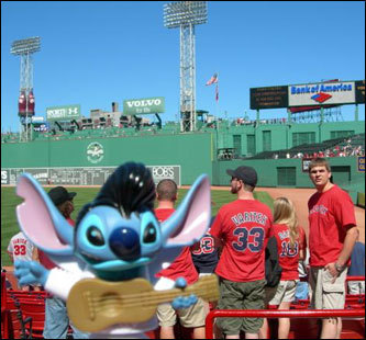 Owner Michelle Doyle says Elvis Stitch loves to travel and enjoyed his day out at Fenway.