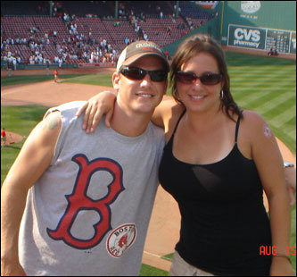 Greg Murphy and Amber Baez from Tampa have taken a trip to Boston every year for the past five years. Murphy says that although Amber is from Tampa, she has taken on the Sox as if she were born in Boston.