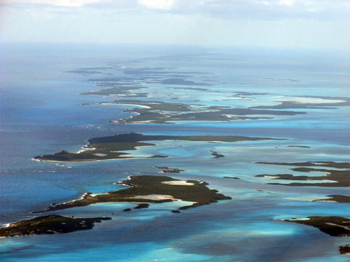 Looking South down the Exuma Chain