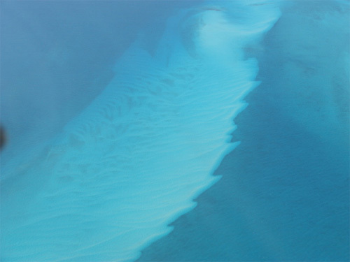Interesting ocean floor pattern on the Bahamas Bank